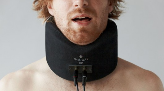Sing like a robot with this vibrating neck collar