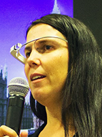 Cecilia Abadie at Golden Networking's Wearable Computing Conference 2014